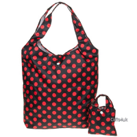 RED BLACK POLKA -  - Handybag Re-Usable Folding Eco Shopping Bag